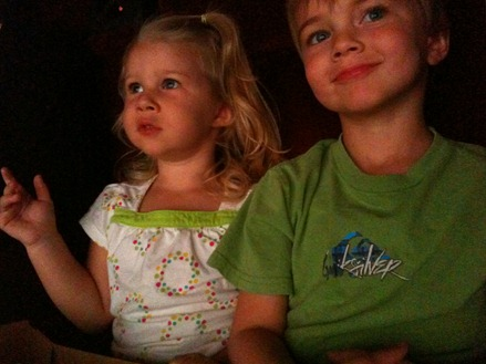 4 yr toy story watching movie