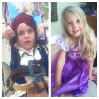 pirate & rapunzel costumes