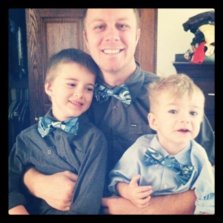 Matching Easter bow ties