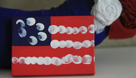 mini american flag canvas