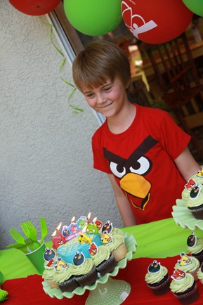 Angry Bird Birthday Party cake