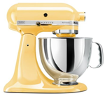 kitchenaid mixer in majestic yellow