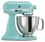 kitchenaid mixer in aqua sky