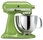 kitchenaid mixer in apple green