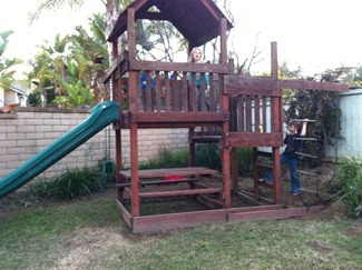free wooden play set
