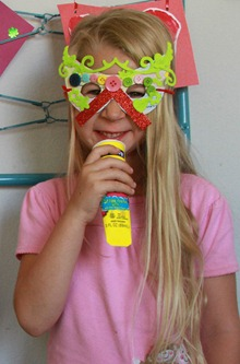 DIY superhero masks for girls