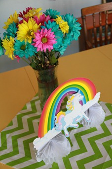 Rainbow birthday decor
