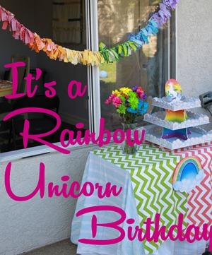 Rainbow Unicorn party